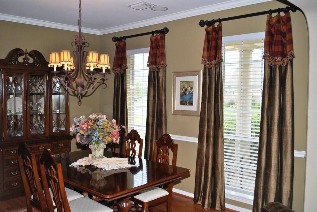 window treatments for dining room and living room after photo of custom draperies simply interiors 28126