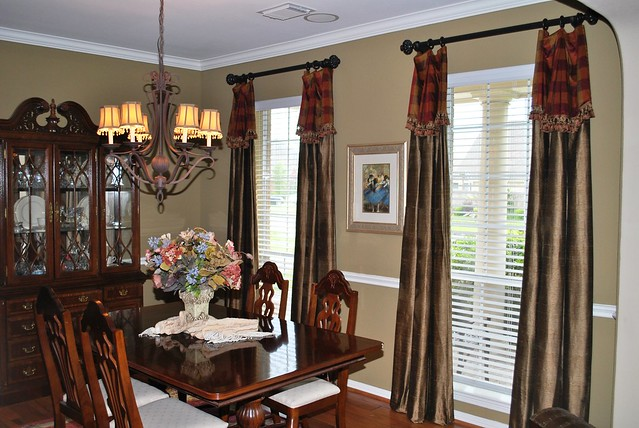 dining room after with window treatments flickr photo sharing. Black Bedroom Furniture Sets. Home Design Ideas