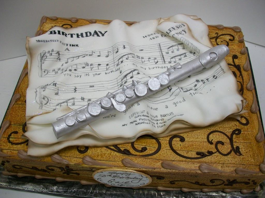 Happy Birthday Flute Cake