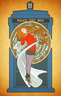 Amy Pond (by way of Alphonse Mucha) | by mudron