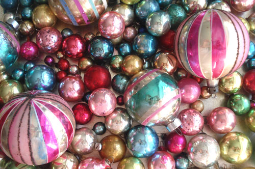 vintage christmas ornaments by such pretty things