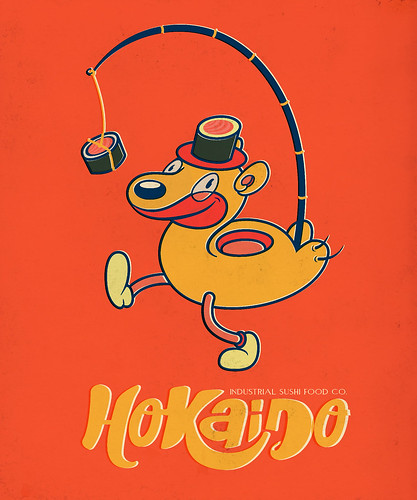 Hokaido Industrial Sushi co. (Fake Japanese Ad Characters Set) | by Rey Misterio (Juan Molinet)