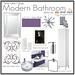 Design Board - Purple Modern Bathroom