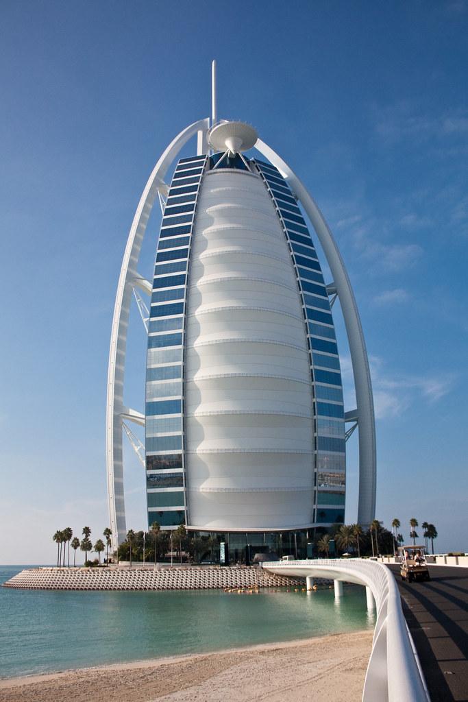 Burj al arab the burj al arab is a luxury hotel located for Sailboat hotel dubai