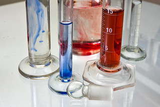 Transparent chemistry glass tubes filled with substances | by Horia Varlan