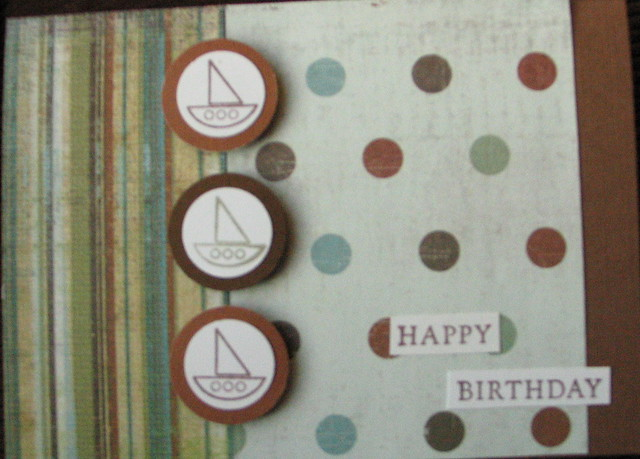 Manly Guy Boat Birthday Card Handmade Cards By Emariecards Flickr