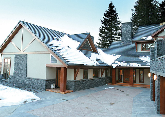 Red Deer Ranch Timber Frame Home Exterior Beautiful