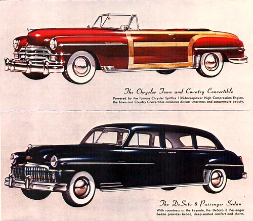 1949 Chrysler Town & Country Convertible & DeSoto 8 P. Sed