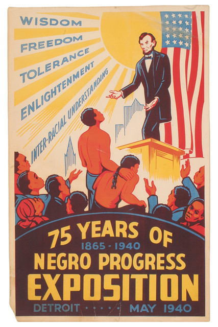 Poster For The 75 Years Of Negro Progress Exposition Detr