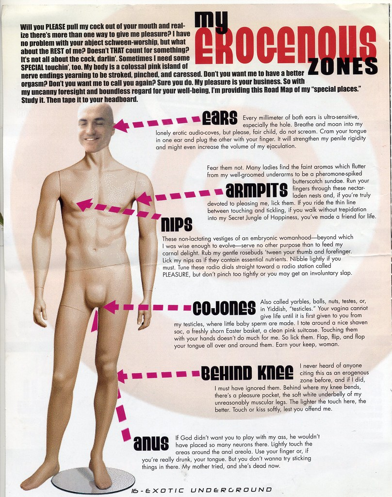 Male erotic zones