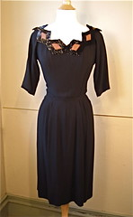 Vintage 1940's Howard Greer of Beverly Hills Rare Black Sequin Dress Lovely 40's Hollywood Starlet Art Deco Noir Geometric Tabletop Neck Line | by Posies For Lulu
