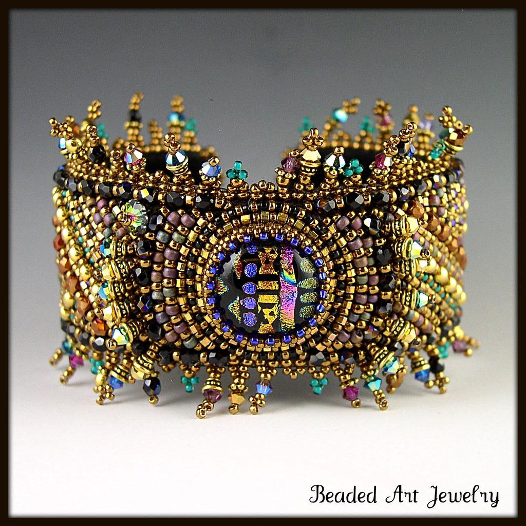 Bead embroidered bracelet susan flickr