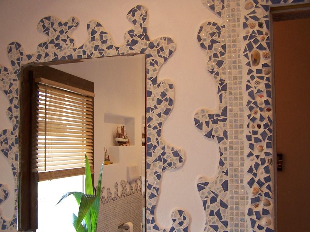 Mosaico diy un mosaico fatto con piastrelle rotte e conchiu2026 flickr