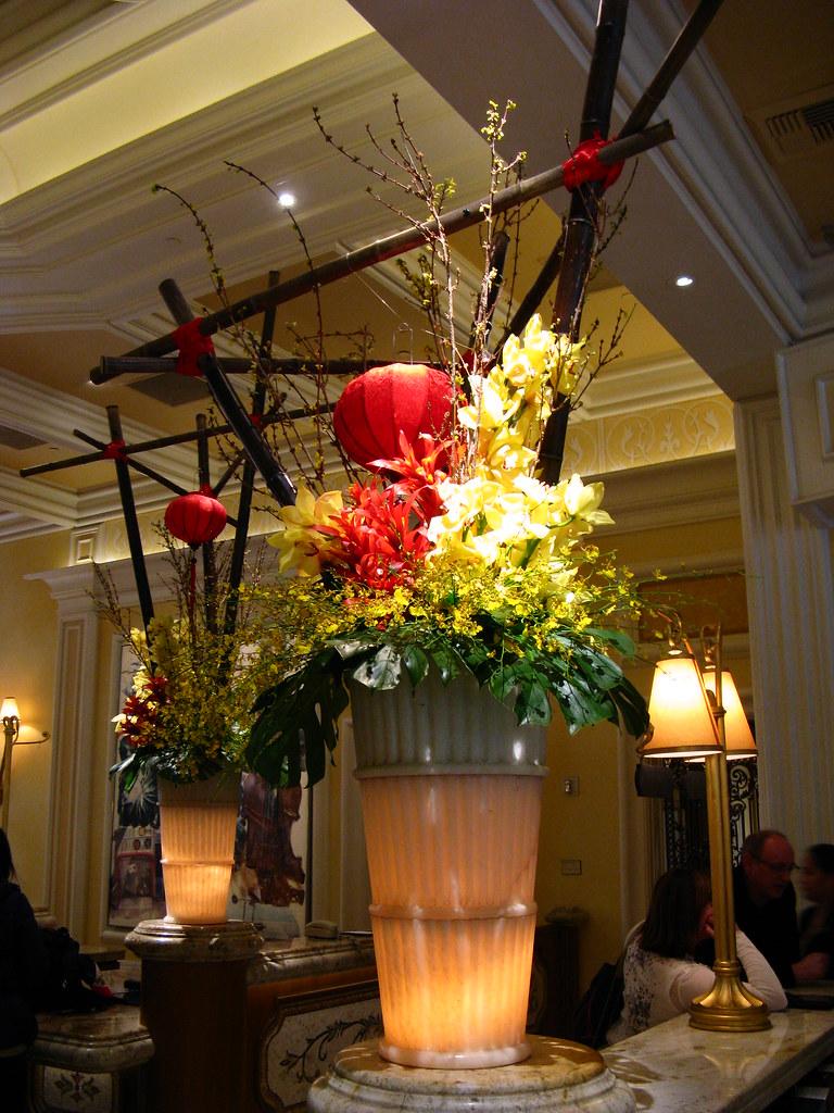 Floral arrangement bellagio lobby las vegas these