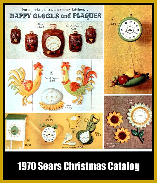 Free Kitchen Catalogs: 1970 Sears Christmas Catalog - Kitchen Clocks