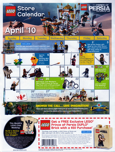 LEGO Store Calendar April '10 - Front | by TooMuchDew