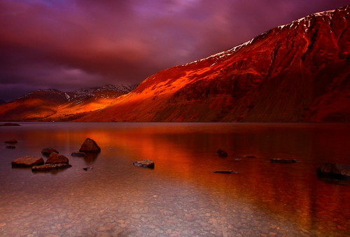 Last Light on Waswater Screes and Scafell | by sunstormphotography.com
