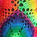 Rainbow Hexagonal Crochet Poncho