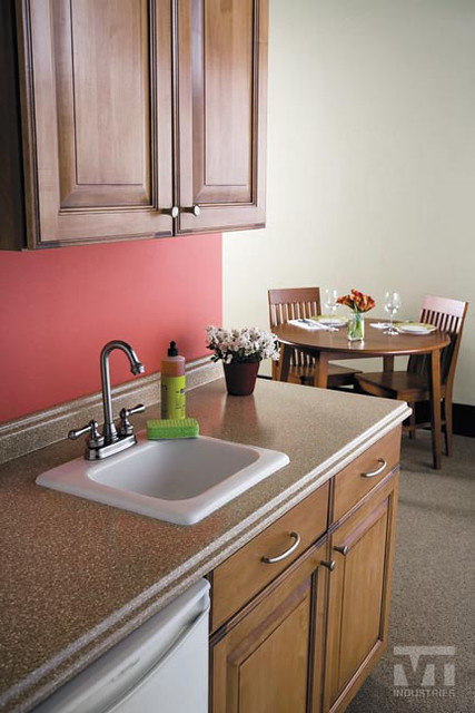 VT Industries - Sand Crystal Laminate with Barcelona Edge ...