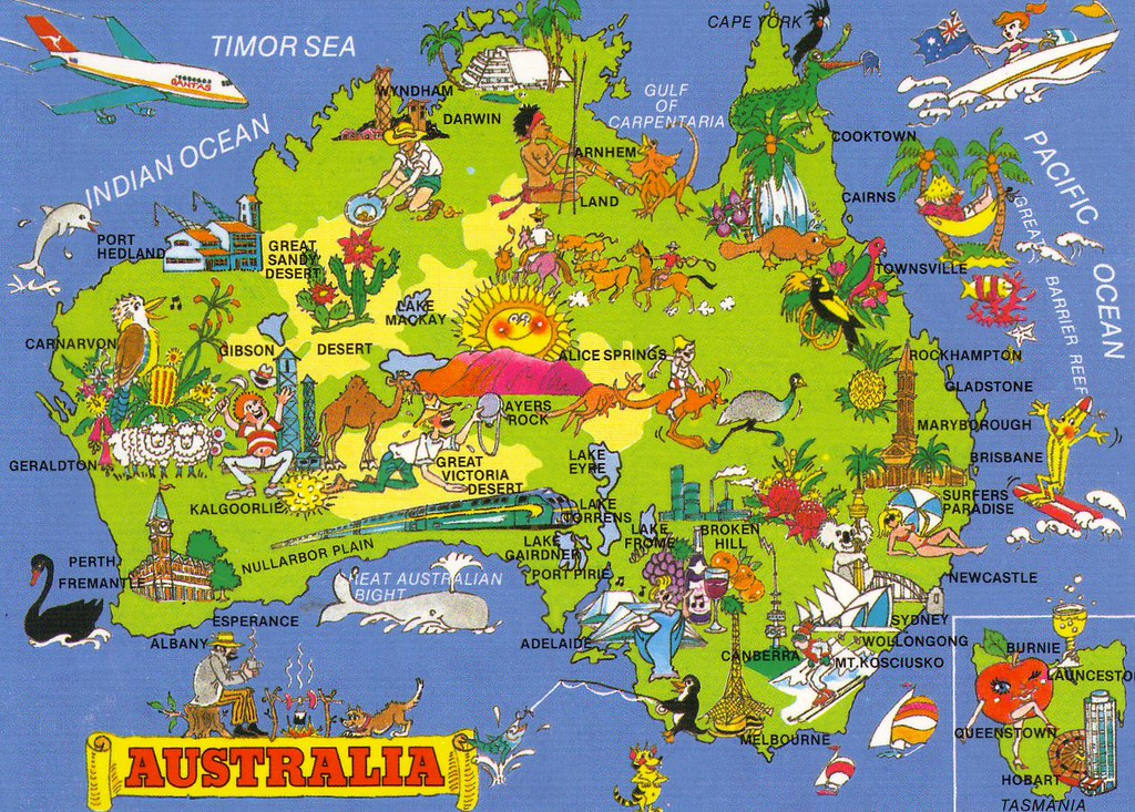 Map of australia cartoon nayahachi flickr map of australia cartoon by nayahachi gumiabroncs Image collections