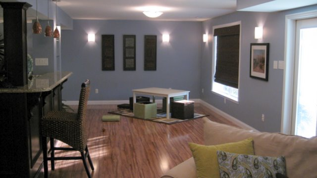 ... Finished Basement Living Space | By Hibbs Homes