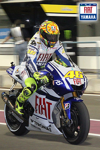iphone wallpaper valentino rossi fiat yamaha team flickr. Black Bedroom Furniture Sets. Home Design Ideas