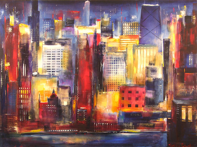 Chicago Skyline Paintings For Sale