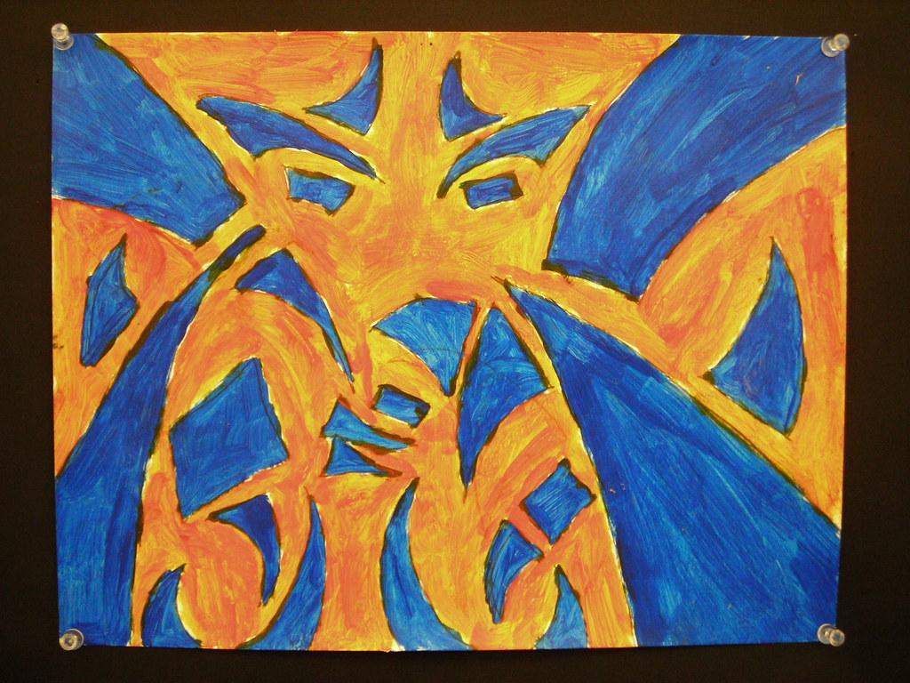 ... Painting with Complementary Color, Nick W. | by ARHS Visual Arts