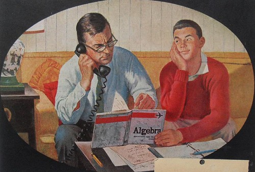 1960s AMERICAN MAGAZINE Vintage Illustration Father Son Algebra Math 2 | by Christian Montone
