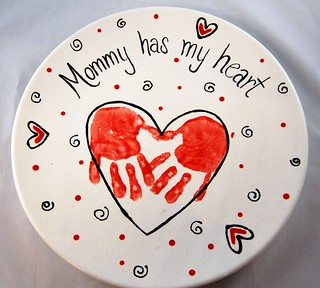 heart handprint mothers day platter | by PicassoZ