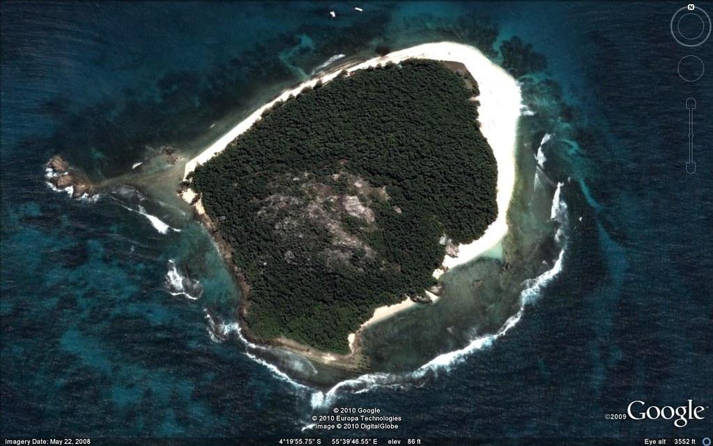Cousin Island Google earth Nature Seychelles IUCNweb Flickr