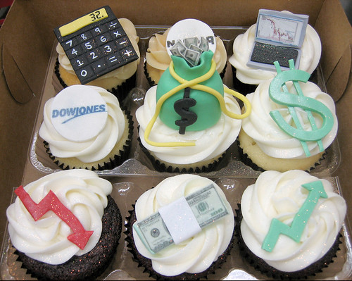 Financial Cupcakes Custom Handmade Financial Themed