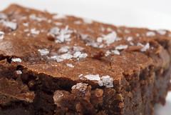 Salted fudge brownies