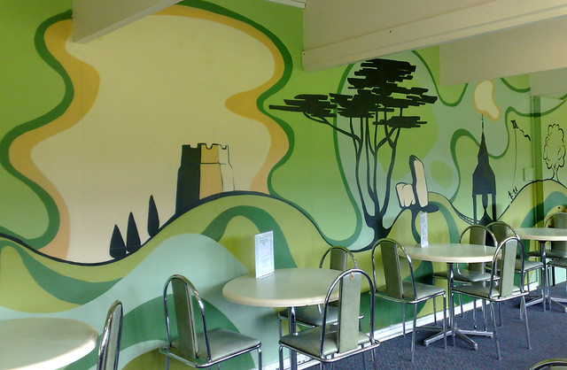 Warley woods cafe mural cafe mural commissioned by for Mural z papiezem franciszkiem