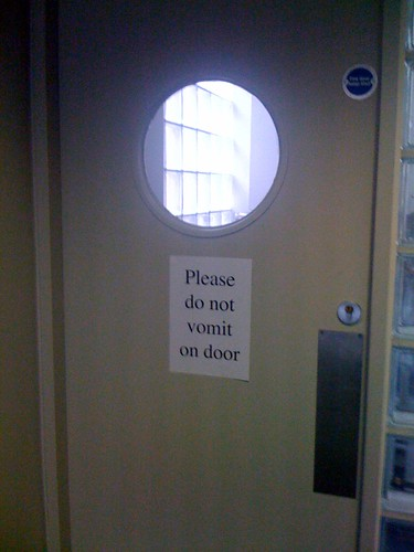 Please do not vomit on door | by passiveaggressivenotes