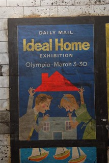 "1959 vintage ""Daily Mail Ideal Home exhibition"" poster found at Notting Hill Gate tube station, 2010 
