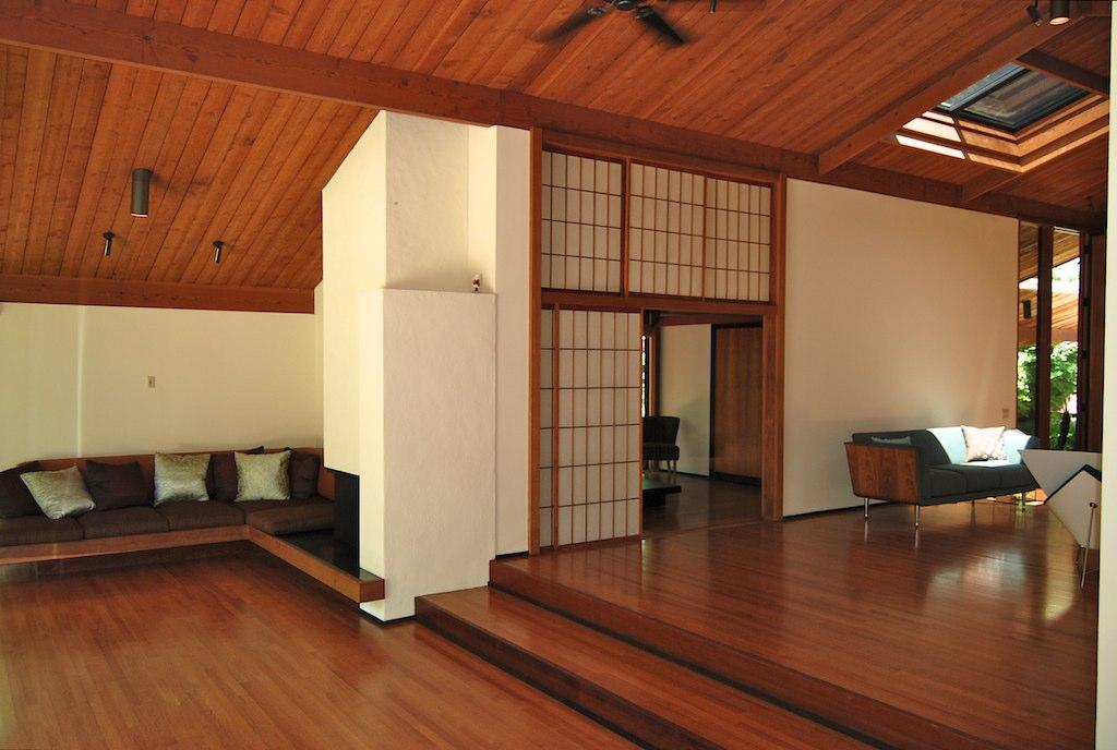 Sunken living room and fireplace carter sparks 3684 for Sunken living room 70 s