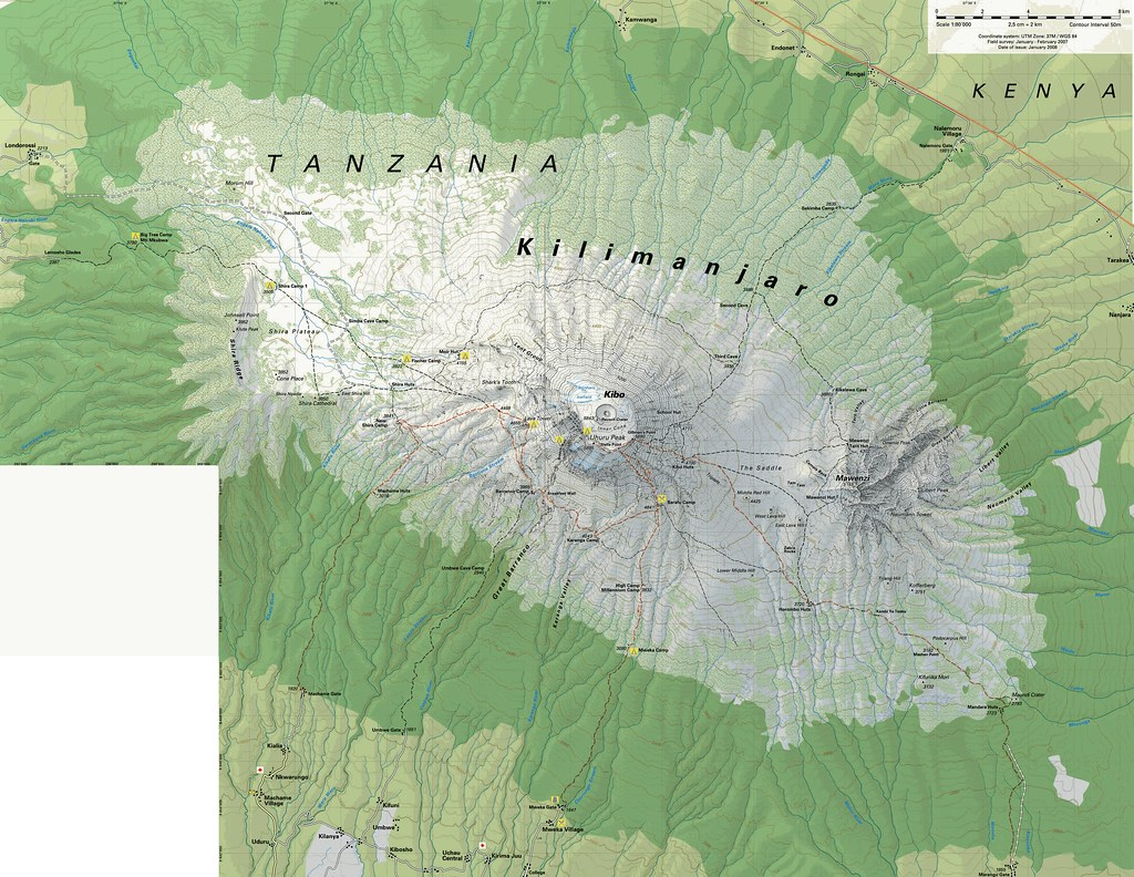 Georeferenced Map of Kilimanjaro | This is a high-resolution… | Flickr