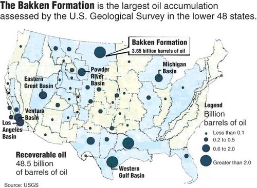 Map Of Us Oil Fields