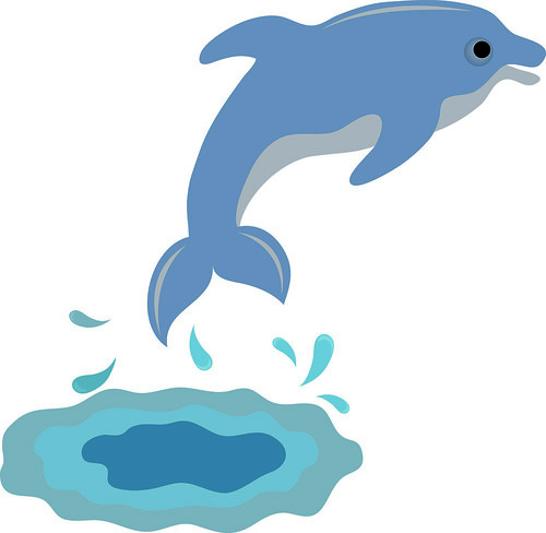 Clip Art Illustration of a Cute Dolphin | Clip art illustrat ...