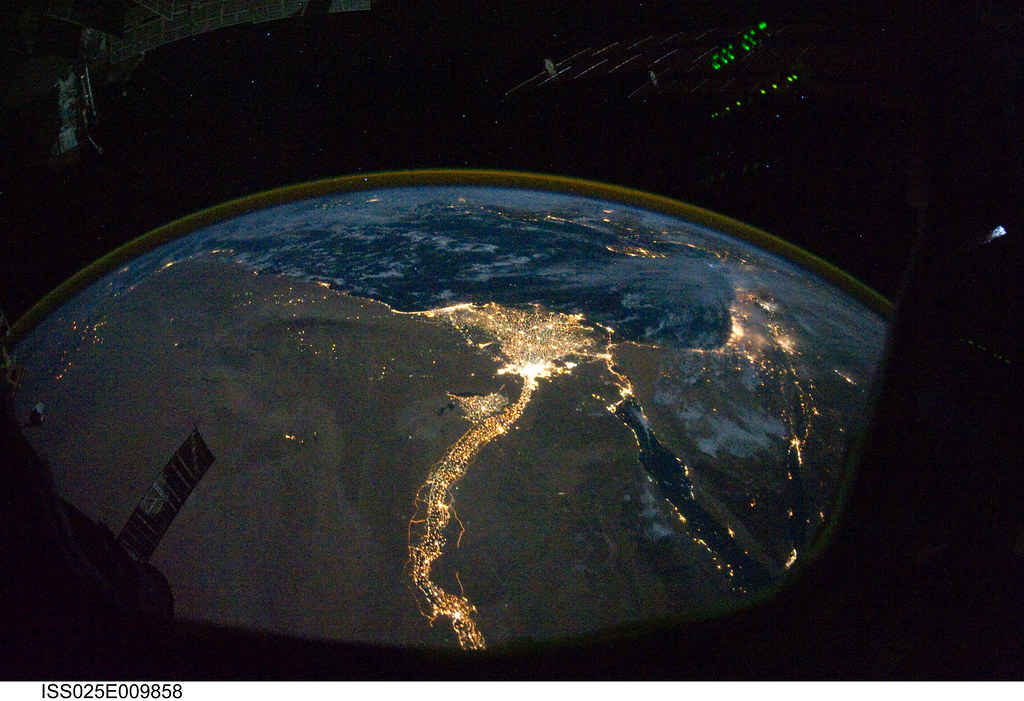 Cairo and Alexandria, Egypt at Night (NASA, International ...