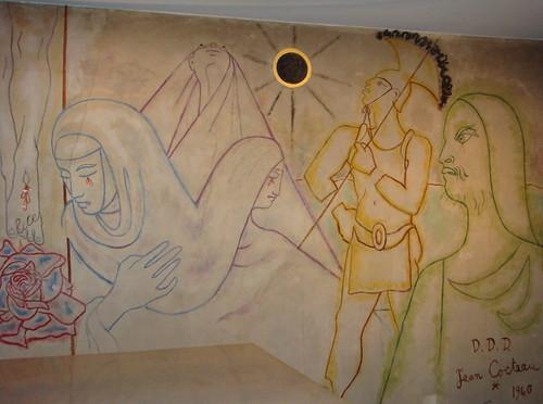 The Darkened Sun - Jean Cocteau mural