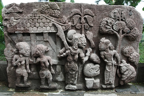 Stone carvings at candi sukuh temple java rowan castle