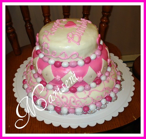Photos Of White Birthday Cake : Pink and white birthday cake pink & white birthday cake ...