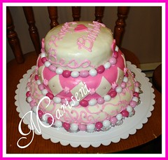 Cake Art N R Colony : Pink and white birthday cake pink & white birthday cake ...
