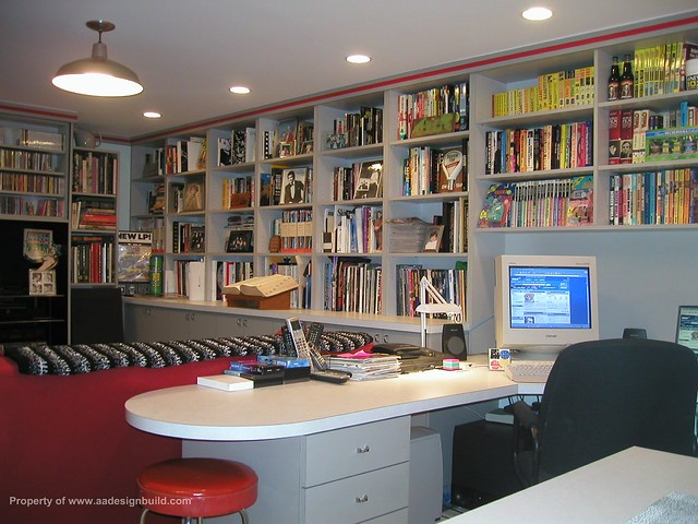 ... Www.aadesignbuild.com, Film Criticu0027s Home Office, Finished Basement  Design And Remodeling