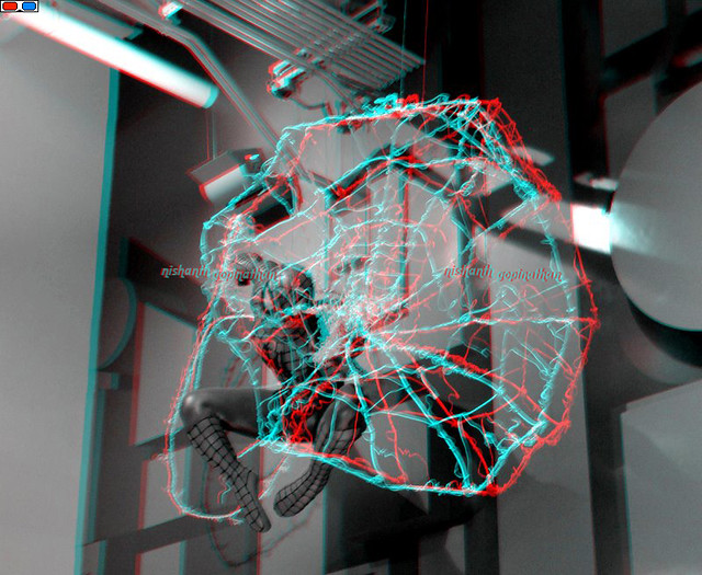 3D Anaglyph (Red-Cyan Glasses) Spiderman