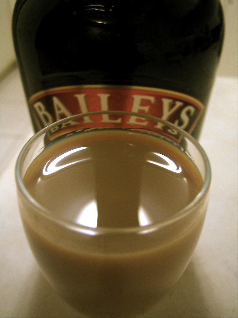 Baileys Irish Cream Cocktails Over Coffee Ice Cubes