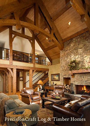 A PrecisionCraft Timber Frame Home Great Room | Located in… | Flickr