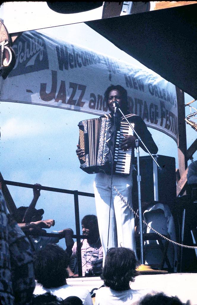 No Jazz Fest >> Clifton Chenier 1975 No Jazz Fest 04 Zydeco Accordion Ti